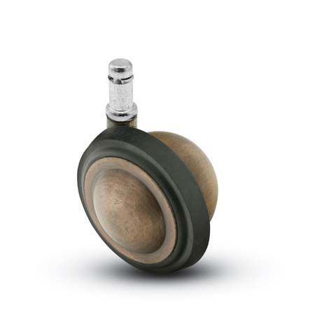 Swivel Ball Caster with an Antique finish, Rubber Tread, and Grip Ring connector.