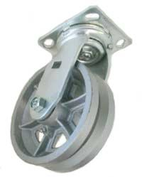 Swivel Caster with V-Groove Cast Iron wheel.