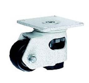 Swivel Stabilizer or Leveling Caster with a Plastic wheel, Ivory finish, and Top Plate connector.