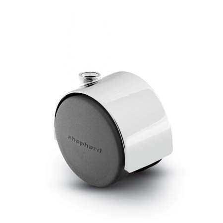 Stemless Twin Wheel, swivel Caster with chrome finish.
