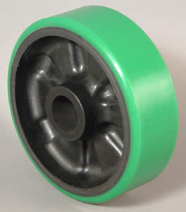 Caster Wheel PolyU on Cast Iron